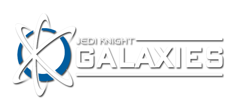 Jedi Knight Galaxies logo, click to show menu.
